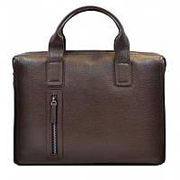 Портфель кожаный Desisan 6017-9 коричневый гладкий