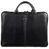 Портфель кожаный Desisan 910-01 черный мелкий флотар, фото 1