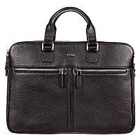 Портфель кожаный Desisan 912-101 черный мелкий флотар