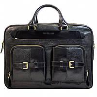 Портфель кожаный Tony Bellucci 5014-893 черный флотар, фото 1