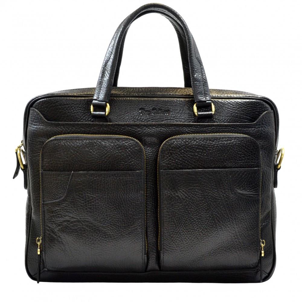 Портфель кожаный Tony Bellucci 5048-893 черный флотар