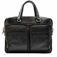 Портфель кожаный Tony Bellucci 5048-893 черный флотар, фото 1