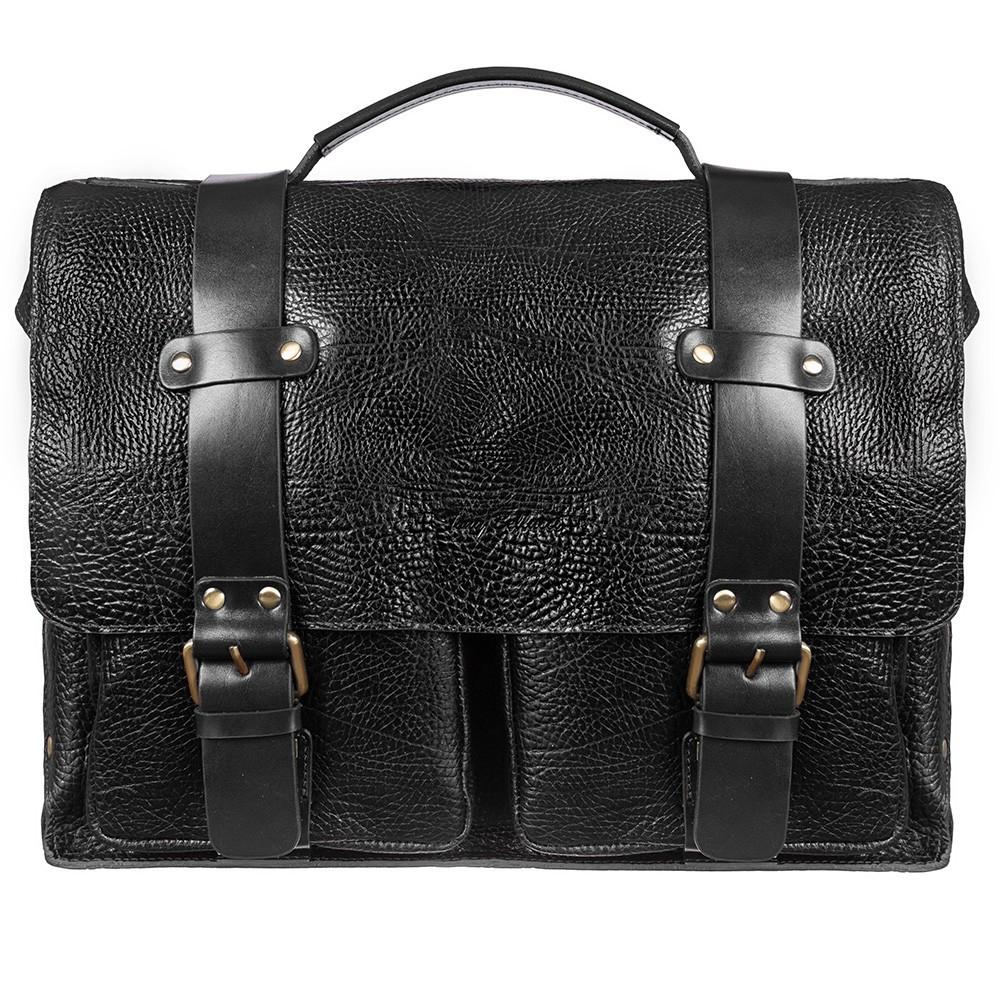 Портфель кожаный Tony Bellucci 5089-893 черный флотар