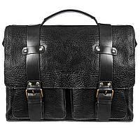 Портфель кожаный Tony Bellucci 5089-893 черный флотар, фото 1