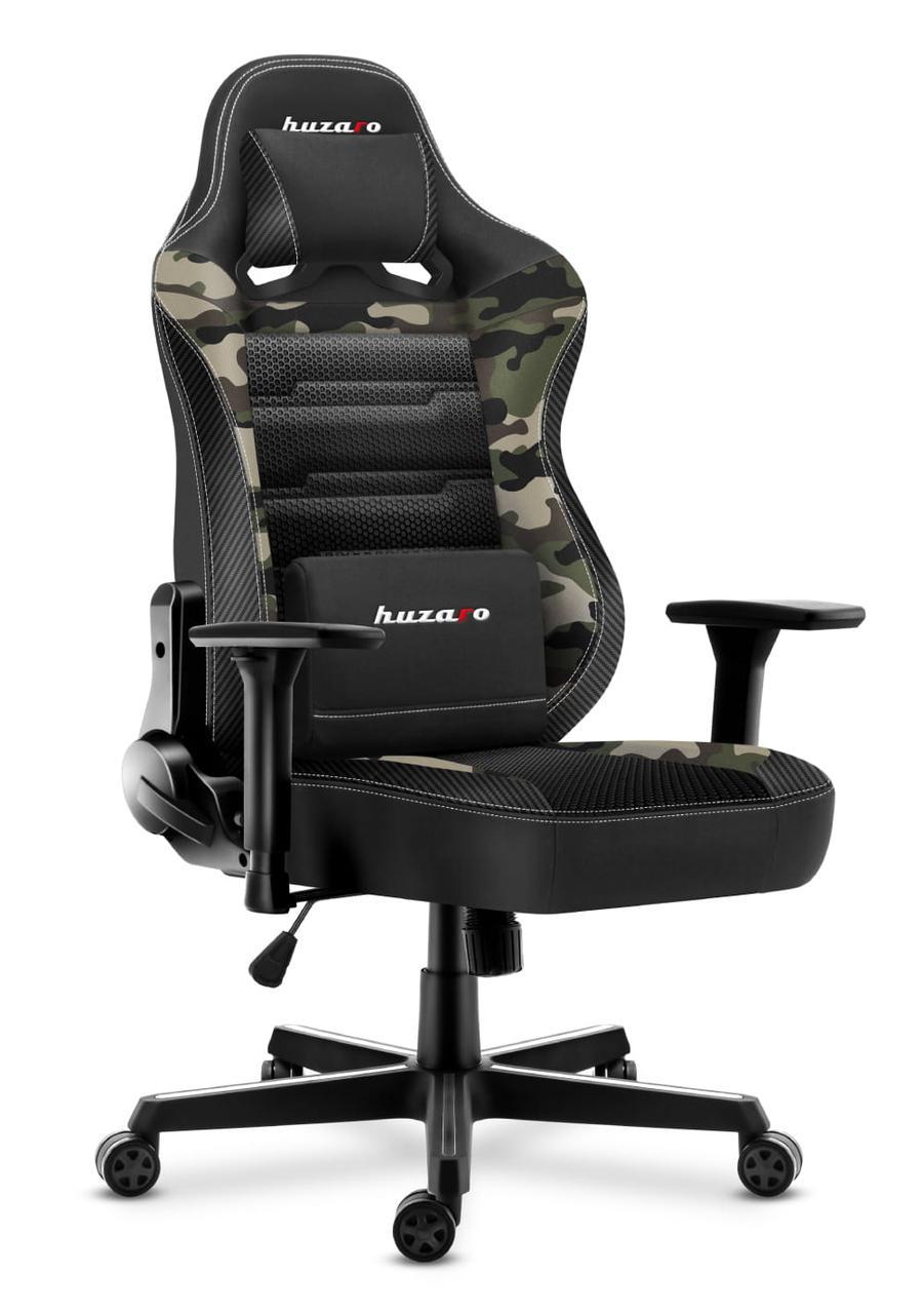 Кресло геймерское HUZARO Новая генерация FORCE 7.7 Camo Mesh Обивка ткань