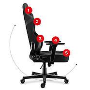 Кресло геймерское HUZARO Новая генерация FORCE 7.7 Camo Mesh Обивка ткань, фото 4