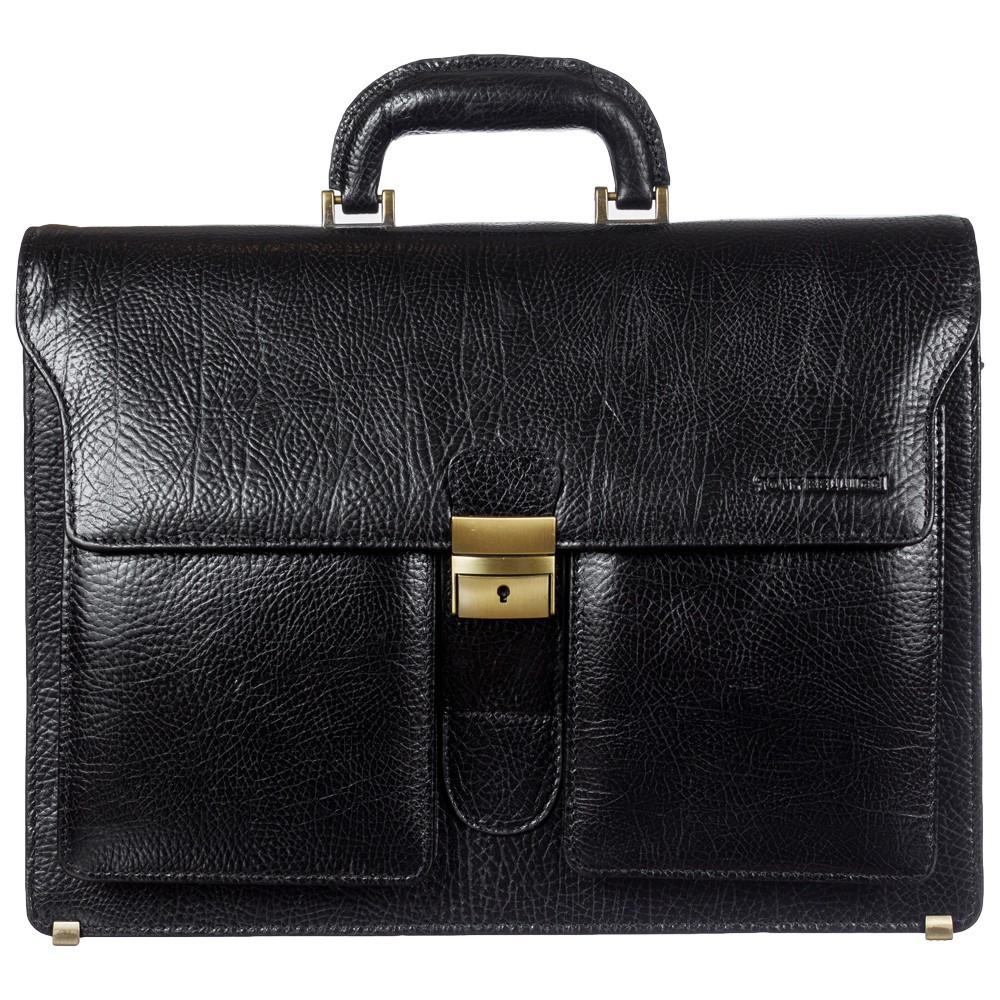 Портфель кожаный Tony Bellucci 5115-893 черный флотар