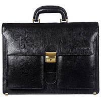 Портфель кожаный Tony Bellucci 5115-893 черный флотар, фото 1