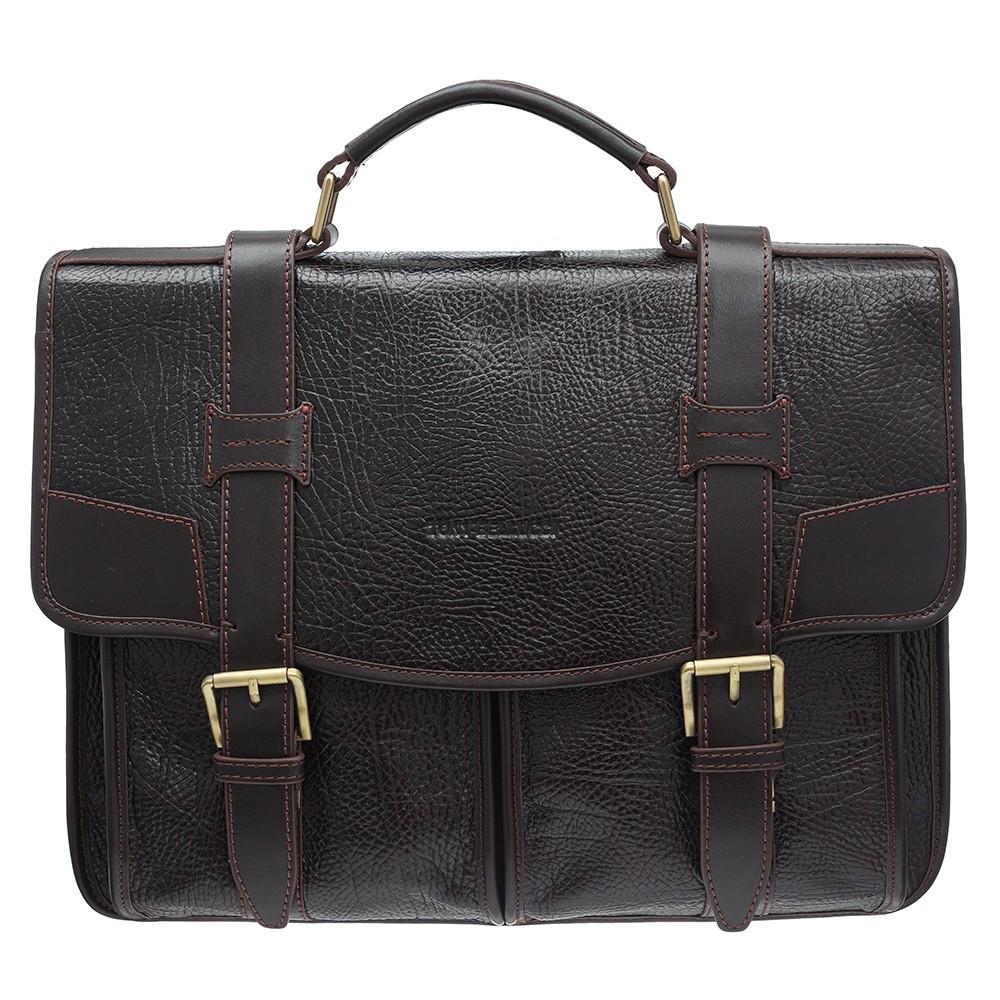 Портфель шкіряний Tony Bellucci 5123-886 коричневий флотар