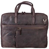 Портфель шкіряний Tony Bellucci 5160-04 коричневий нубук, фото 1