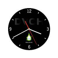 """Часы настенные с логотипом """"DVCH"""" (индивидуальный дизайн)"""