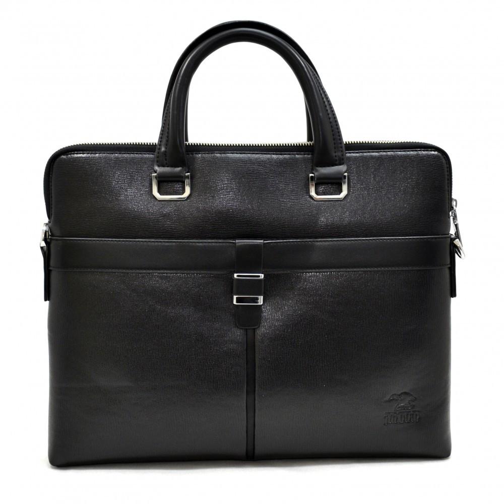 Портфель мягкий из кожзаменителя ТМ Bonis 6831-1 черный