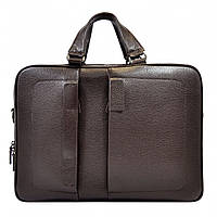 Портфель мягкий кожаный BOND 1103-286 коричневый, фото 1