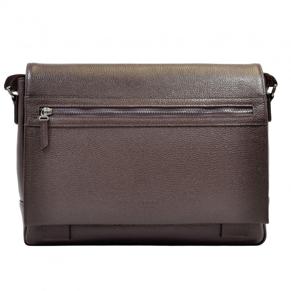 Портфель м'який шкіряний BOND 1108-286 коричневий