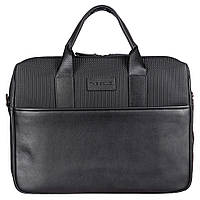 Портфель мягкий кожаный BOND 1173-50 черный, фото 1