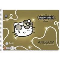 Альбом для малювання Школярик 30листов пружина Hello Kitty ПДВ PB-SC-030-079
