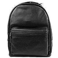 Рюкзак кожаный BOND 1097-281 черный флотар, фото 1