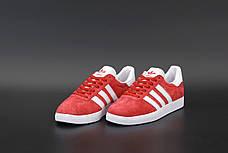 Мужские кроссовки в стиле Adidas Gazelle Red Suede, фото 3