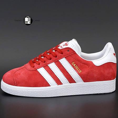 Мужские кроссовки в стиле Adidas Gazelle Red Suede, фото 2