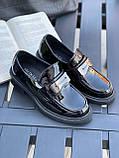 Женские туфли черные повседневные эко лак, фото 2