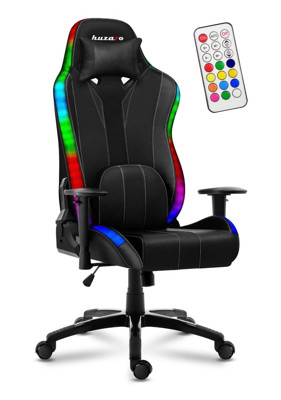 Кресло геймерское HUZARO Новая генерация FORCE 6.7 RGB Подсветка Бренды Европы