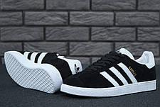 Женские кроссовки в стиле Adidas Gazelle Black Suede, фото 3