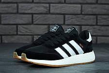 Мужские кроссовки в стиле Adidas Iniki Black\White, фото 2