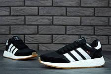 Чоловічі кросівки в стилі Adidas Iniki Black\White, фото 3