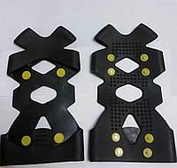 Фиксируемые ледоходы Non-Slip на 8 шипов (ледоступы, анти скользящие подошвы с 8 шипами), фото 1