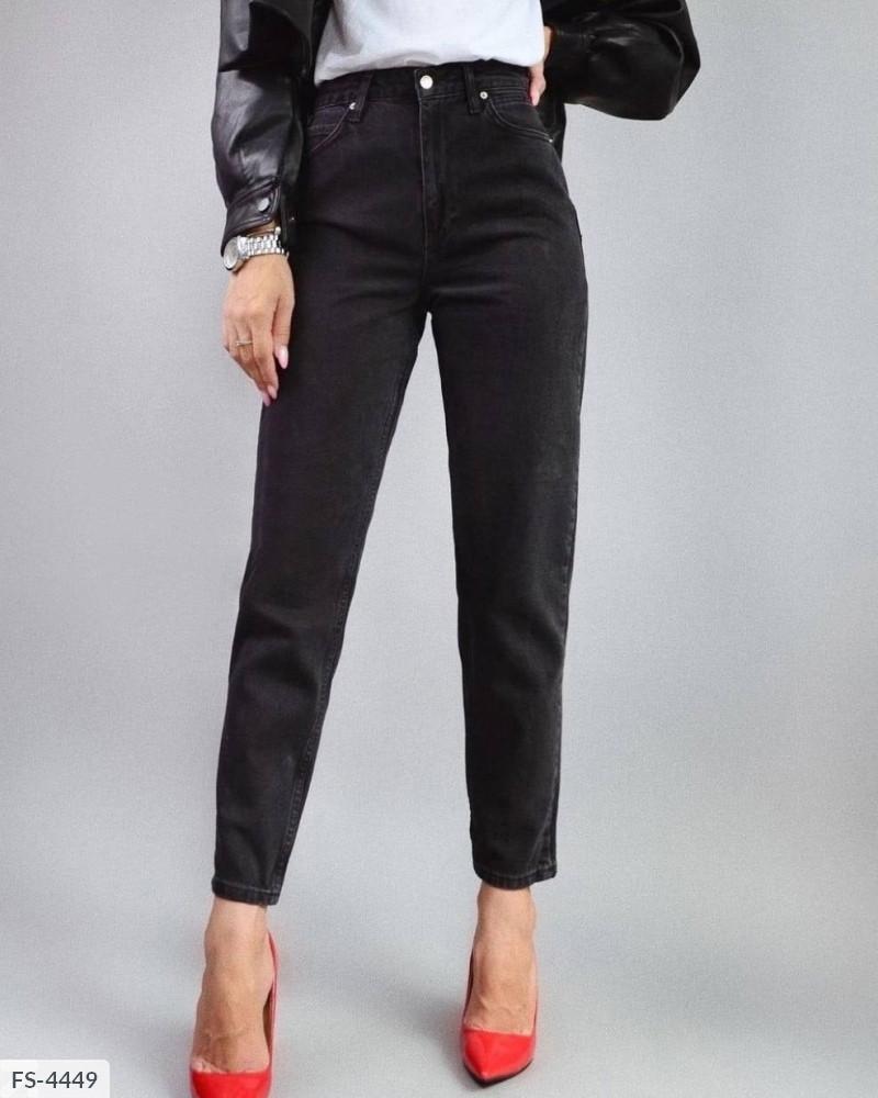 Жіночі чорні джинси мом