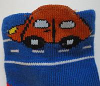 Шкарпетки дитячі демісезонні синього кольору, об'ємний малюнок, р. 8-10