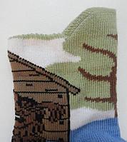 Носки детские демисезонные голубого цвета, объёмный рисунок, р.8-10