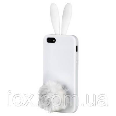 """Силиконовый чехол белый """"Зайчик Rabito"""" для Iphone 5/5S"""