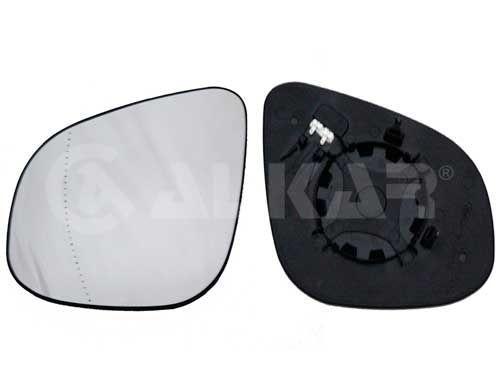 Стекло зеркала левое (с подогревом) (вставка, вкладыш) Renault Kangoo 1.5 dCi/1.6 16V 08- (6471698) ALKAR