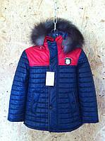 зимние куртки и пуховики для мальчика, р. 130 - 135