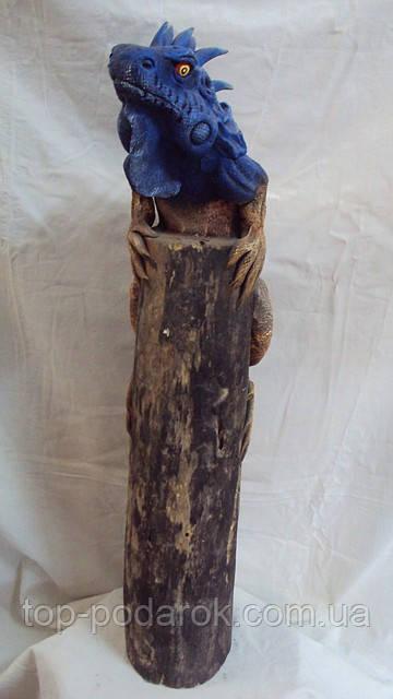 Статуэтка варан на дереве высота 70см