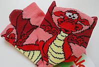 Носки детские демисезонные кораллового цвета, объёмный рисунок, р.8-10, фото 1