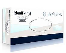 Перчатки виниловые неопудренные IDEALL р.M, 100 шт