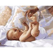 "Картина по номерам ""Младенец"" ★★★"