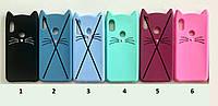 Чохол дитячий для Samsung Galaxy J5 Prime G570f силіконовий об'ємний іграшка котик вусики