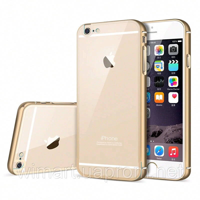 Бампер iPhone 6/6S. Luoya . Gold