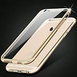 Бампер iPhone 6S/6 алюминевый с задней крышкой. Luoya. Черный, фото 2