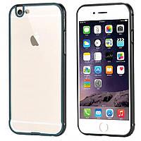 Бампер iPhone 6S/6 алюминевый с задней крышкой. Luoya. Черный