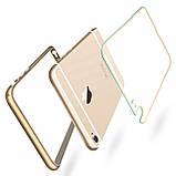 Бампер iPhone 6S/6 алюминевый с задней крышкой. Luoya. Черный, фото 6