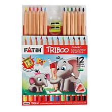 """Олівці кольорові """"Triboo Jumbo"""", 12 шт"""
