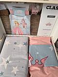 Комплект Детского Подросткового Постельного Белья Хлопок Ранфорс Бязь Полуторное 160*220 см Aran Clasy Crown, фото 2
