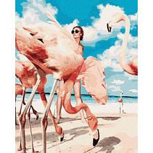 "Картина по номерам ""Фламинго"""