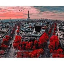 """Картина по номерам """"Алые краски Парижа"""""""