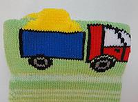 Носки детские демисезонные салатового цвета, объёмный рисунок, р.10-12, фото 1