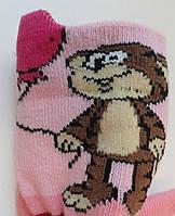 Шкарпетки дитячі демісезонні рожевого кольору, об'ємний малюнок, р. 10-12